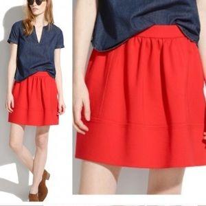 Madewell Red Ponte Swivel Skirt - NWT